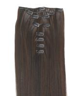 Clip-on hår 50cm i fint syntetfiber #6/2