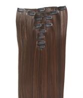 Clip-on hår 50cm i fint syntetfiber #8/4