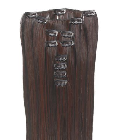 Clip-on hår 50cm i fint syntetfiber #16/33