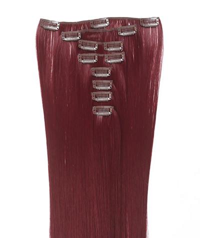 Clip-on hår 50cm i fint syntetfiber #39