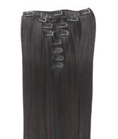 Clip-on hår 50cm i fint syntetfiber #99J/1