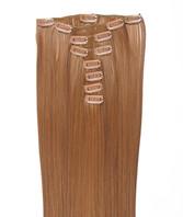 Clip-on hår 50cm i fint syntetfiber #125/27
