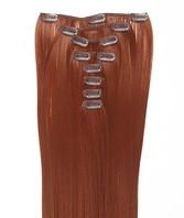 Clip-on hår 50cm i fint syntetfiber #350