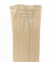 Clip-on hår 50cm i fint syntetfiber #613