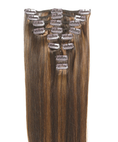 Peak´s Clip-on hair #4/8 brown/light hazelnut brown