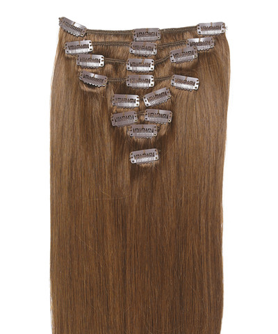 Peak´s Clip-on hair #8 light hazelnut brown
