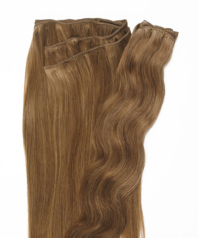 Peak´s Weft #8/12 wavy light brown REMY