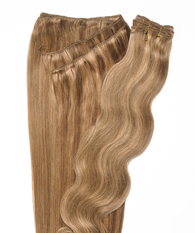 Peak´s Weft #26/12 vågig golden beige/dark golden blonde REMY