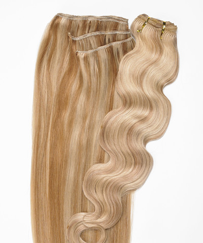 Peak´s Weft #613/26 wavy light blonde/golden beige REMY