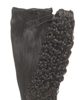 Peak´s Weft #2 curly dark brown REMY
