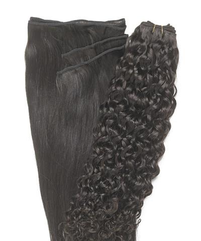 Peak´s Weft #2 curly dark brown REMY
