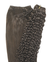 Peak´s Weft #4 curly vågig brown REMY