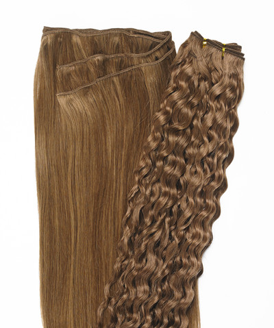 Peak´s Weft #8/12 curly light brown REMY