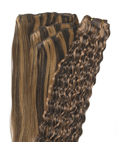Peak´s Weft #12/4 curly light brown REMY