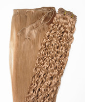 Peak´s Weft #26 curly golden beige REMY