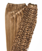 Peak´s Weft #26/12 curly golden beige/dark golden blonde REMY