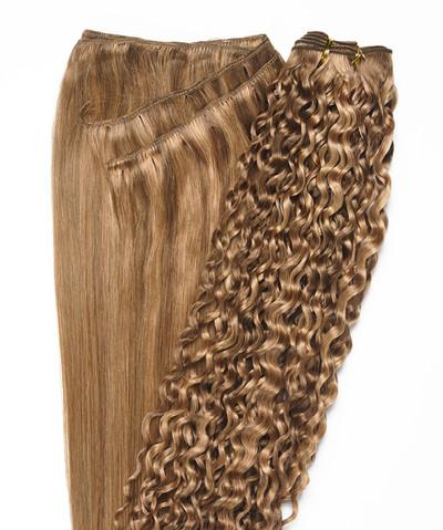 Peak´s Weft #26/12 curly golden beige/dark golden blonde REMY