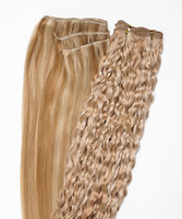 Peak´s Weft #613/26 curly light blonde/golden beige REMY