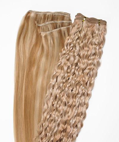 Peak´s Weft #613/26 curly light blonde/golden beige REMY