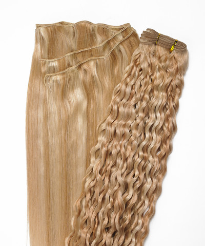 Peak´s Weft #234/23C curly light peach copper/light peach blonde REMY