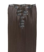 Clip-on hår 50cm i fint syntetfiber #4